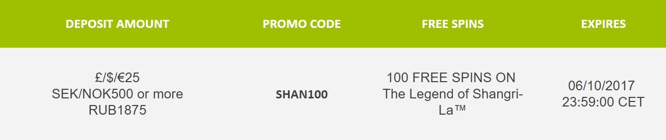 free spins on legends of shangri la slot