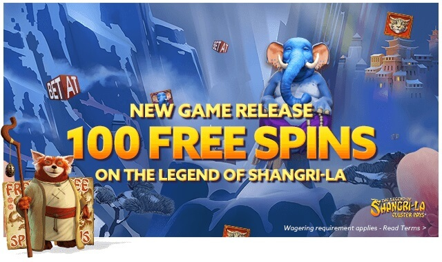 free spins on the legend of shangri la slot