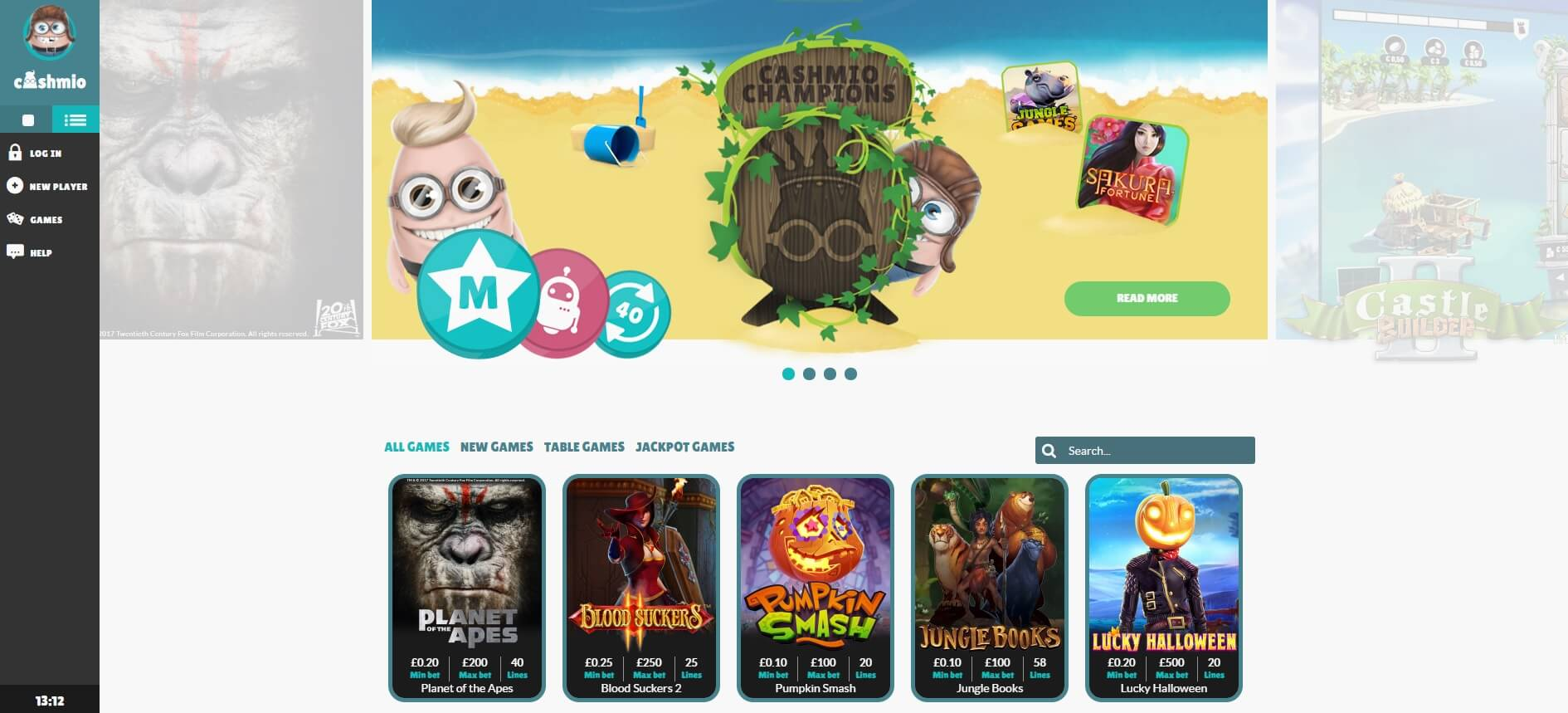 cashmio games and slots