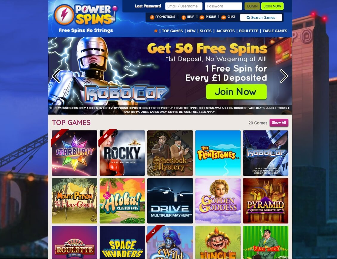 power spins slots and games new slot site review