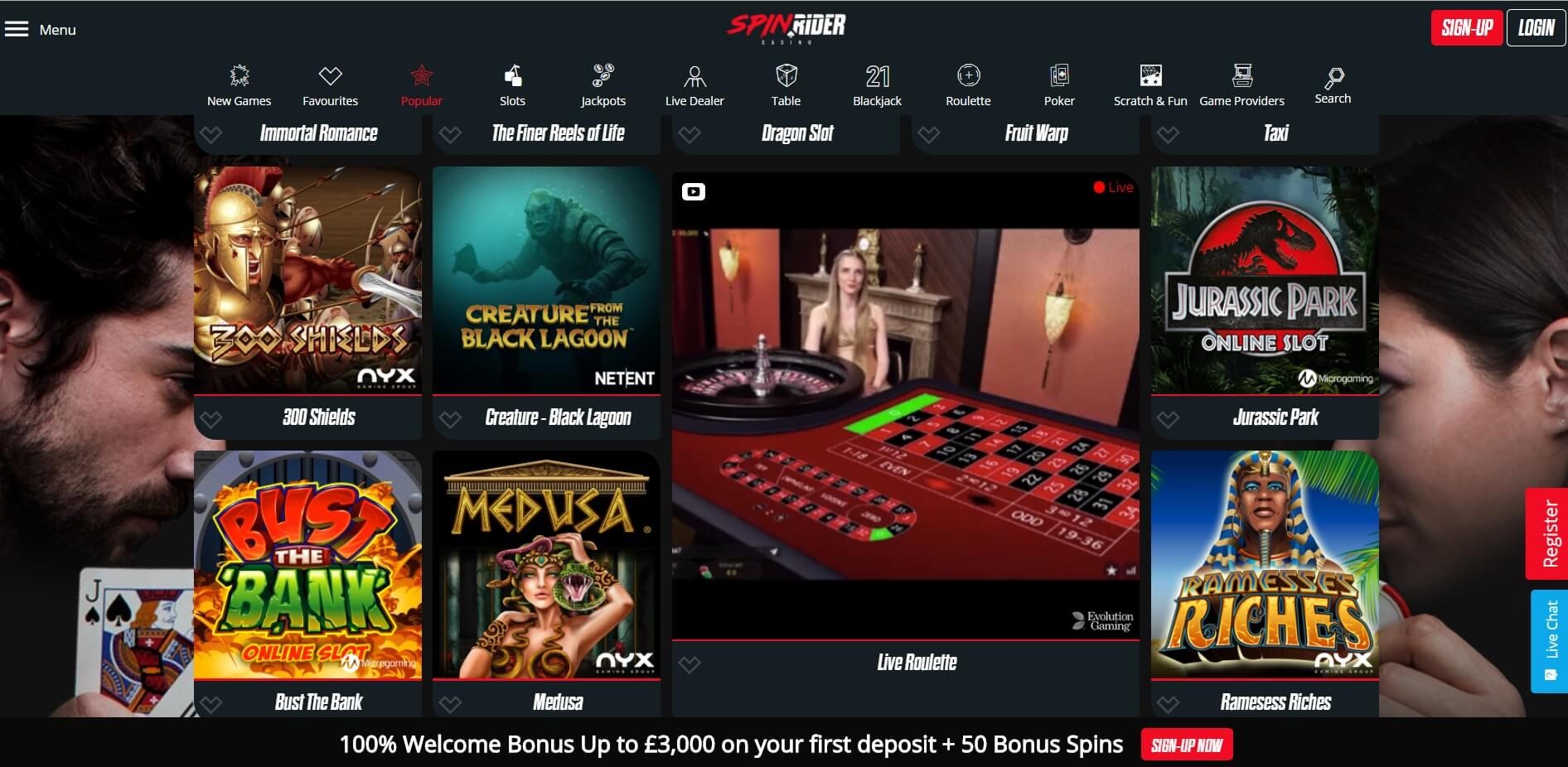spinrider casino uk