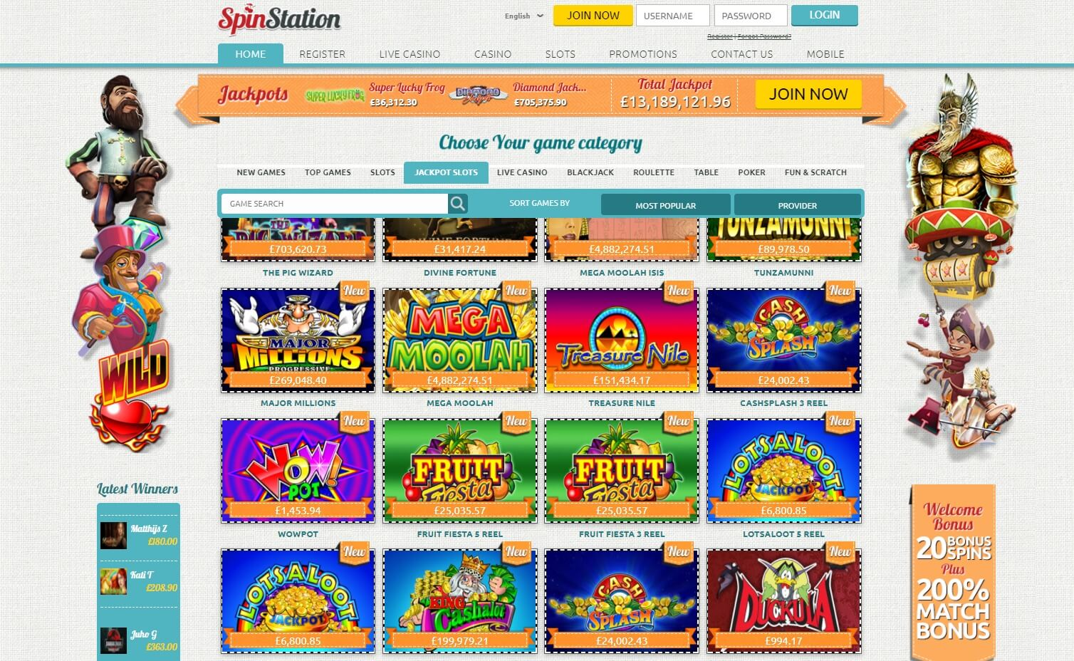 spin station casino slots