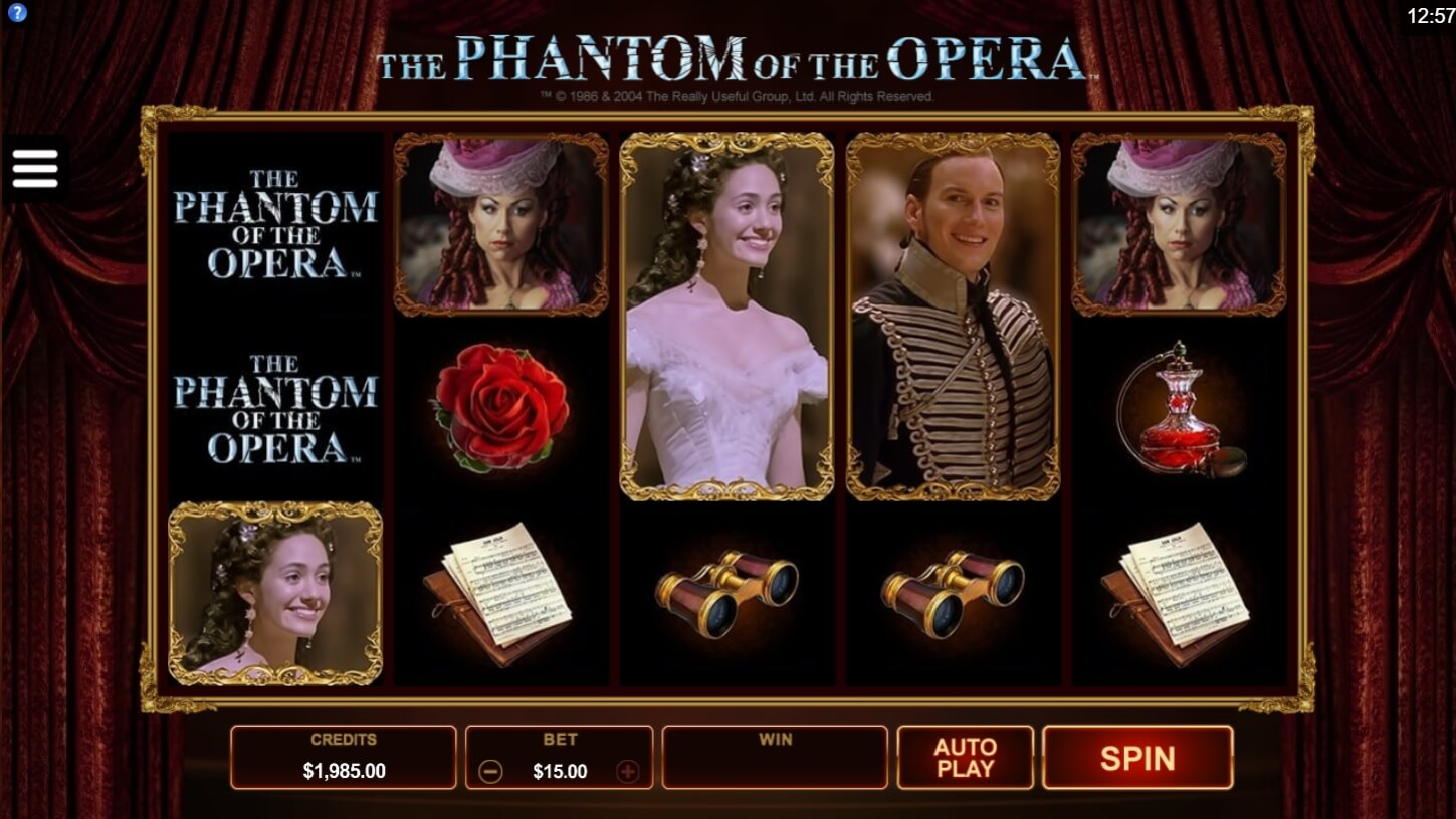microgaming phantom of the opera slot