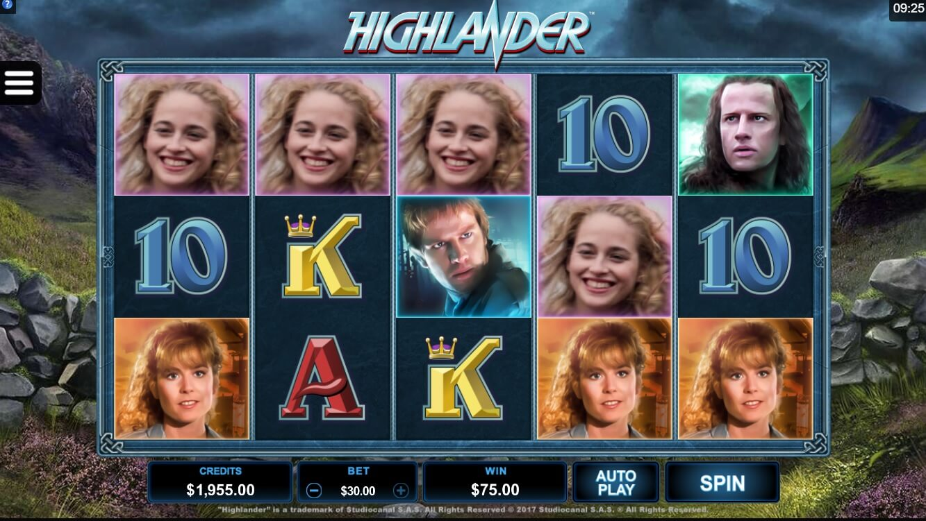 highlander slot review