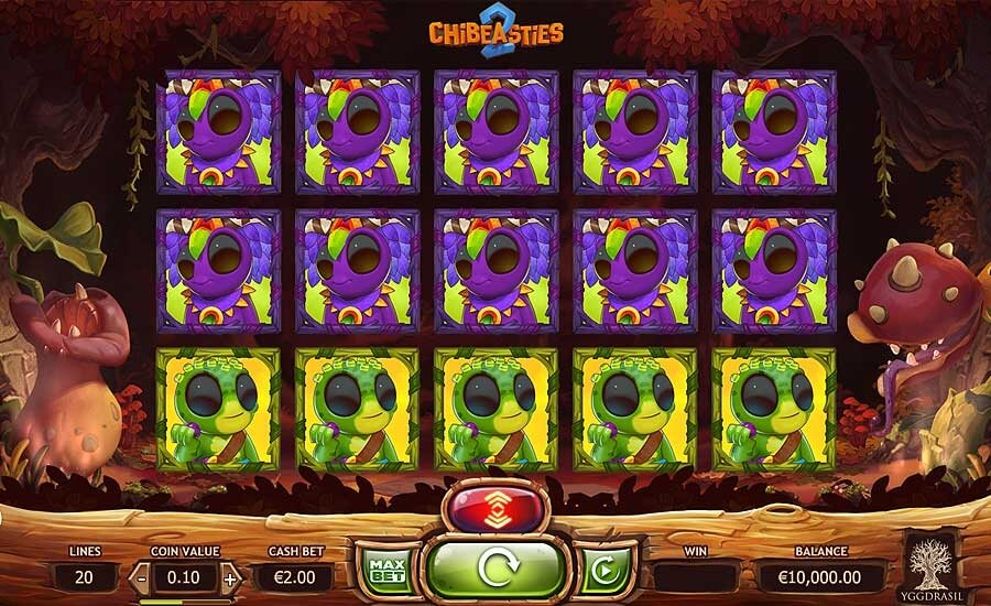 chibeasties slot review rtp % and screen shot
